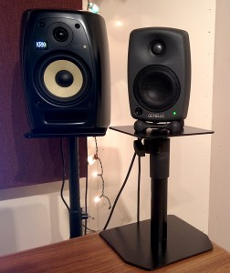 Genelec 8020a speaker on a stand