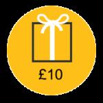£10 gift voucher icon