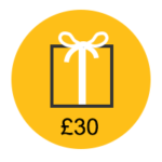 £30 gift card icon