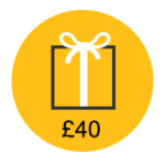 £40 gift card icon