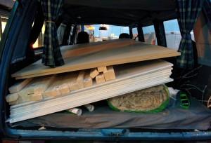 supplies in van