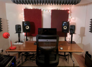 The workstation at The Noisefloor music studio
