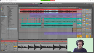 screenshot of Ableton Live with Zoom window